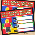 FREE Printable LEGO Building Blocks Birthday Invitation