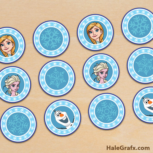 Free Printable Images Of Cupcakes : FREE Printable Frozen Elsa and Anna Cupcake Toppers