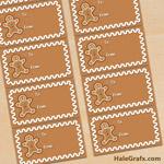 FREE Printable Christmas Gingerbread Gift Tags
