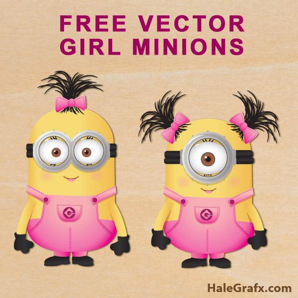 FREE Vector Despicable Me Girl Minions