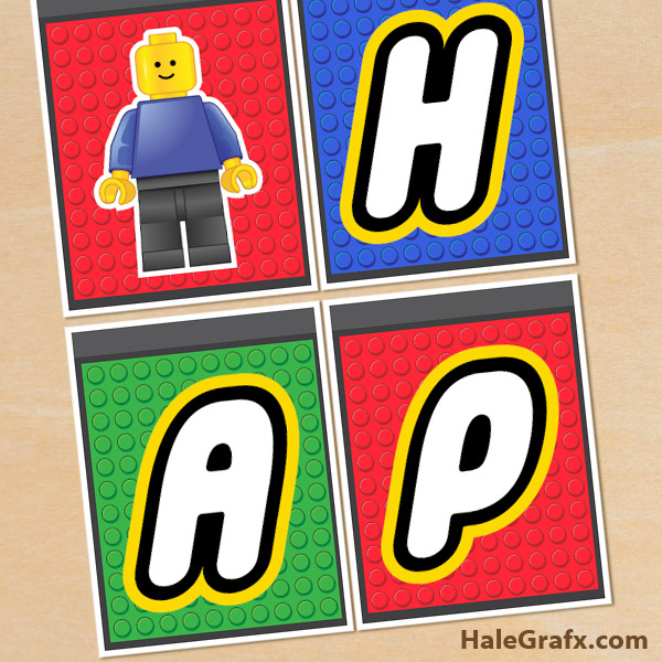 Lego Block Printable This free lego banner also