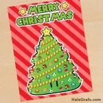 FREE Super Mario Bros. Christmas Tree Printable