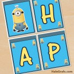 FREE Printable Despicable Me Minions Birthday Banner Pack