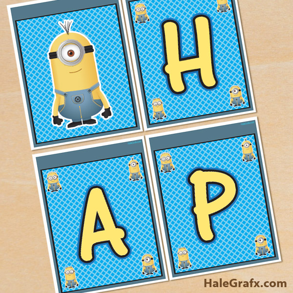 FREE Printable Despicable Me Minions Birthday Banner
