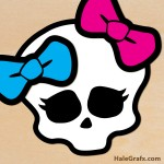 FREE Printable Monster High Pin the Bow on the Skull