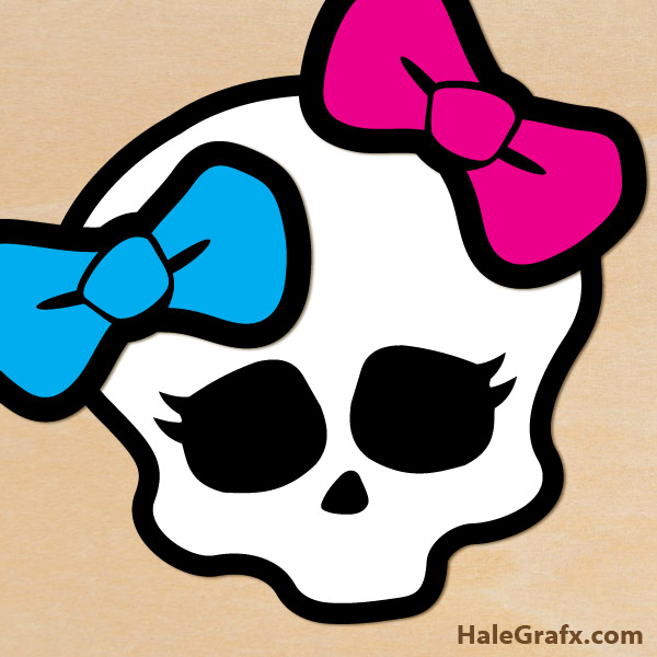 Printable Monster High Pin the Bow on the Skull