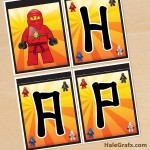 FREE Printable Ninjago Birthday Banner