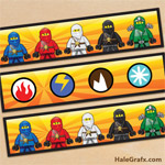 FREE Printable Ninjago Water Bottle Labels