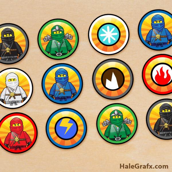 Printable LEGO Ninjago Cupcake Toppers