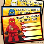 FREE Printable LEGO Ninjago Birthday Invitation set