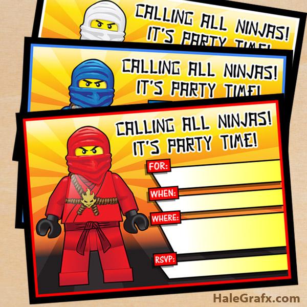 Free printable lego ninjago birthday invitation set free printable lego ninjago birthday invitation stopboris Gallery