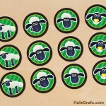 FREE Printable Shaun the Sheep Cupcake Toppers