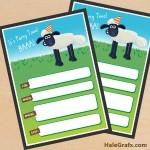 FREE Printable Shaun the Sheep Birthday Invitation