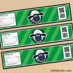 FREE Printable Shaun the Sheep Water Bottle Labels
