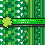 FREE St. Patrick's Day Digital Paper Pack