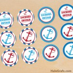 FREE Printable Anchors Aweigh Cupcake Toppers