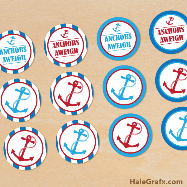 picture about Printable Anchor identify Absolutely free Printable Anchors Aweigh Cupcake Toppers