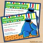 FREE Printable Cookie Monster Birthday Invitation