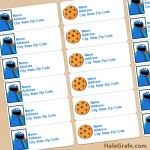 FREE Printable Cookie Monster Address Labels