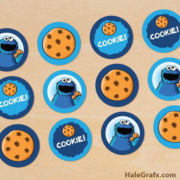photo about Cookie Printable known as Cost-free Printable Cookie Monster Cupcake Toppers