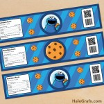 FREE Printable Cookie Monster Water Bottle Labels
