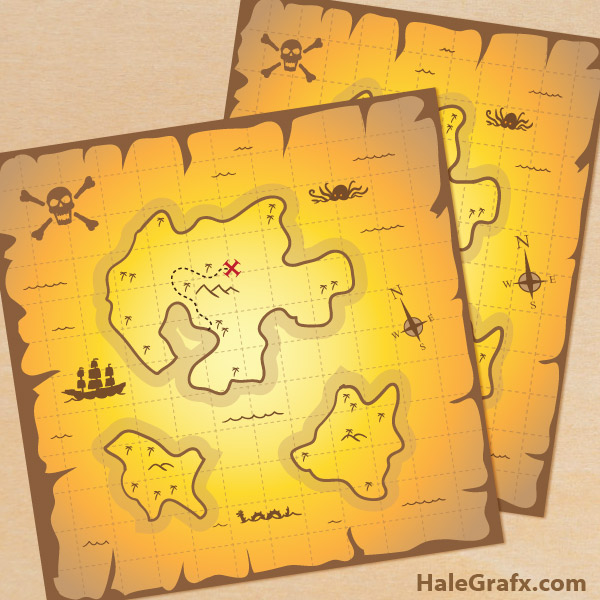 FREE Printable Pirate Treasure Maps