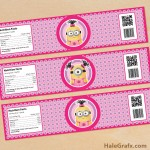 FREE Printable Despicable Me girl Minions Water Bottle Labels