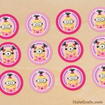 FREE Printable Despicable Me Girl Minions Cupcake Toppers