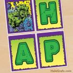 FREE Printable Incredible Hulk Birthday Banner
