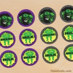FREE Printable Incredible Hulk Cupcake Toppers