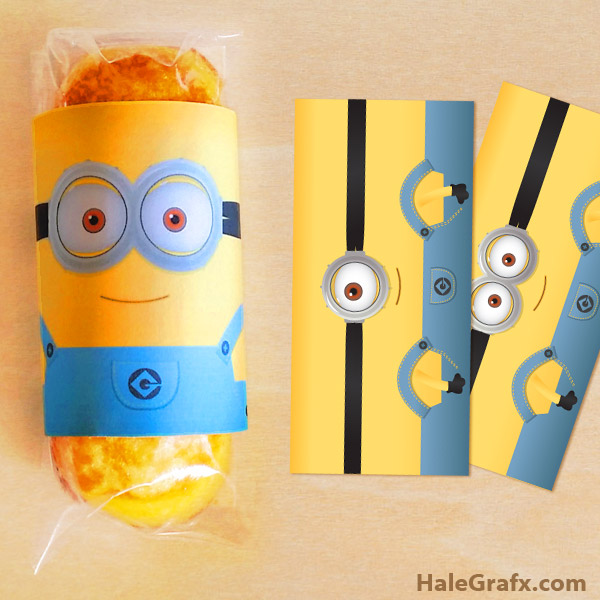 graphic relating to You Re One in a Minion Printable called Absolutely free Printable Despicable Me Minion Twinkies Wrappers
