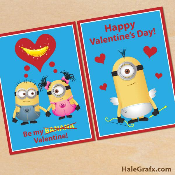 Schön FREE Printable Despicable Me Minion Valentines