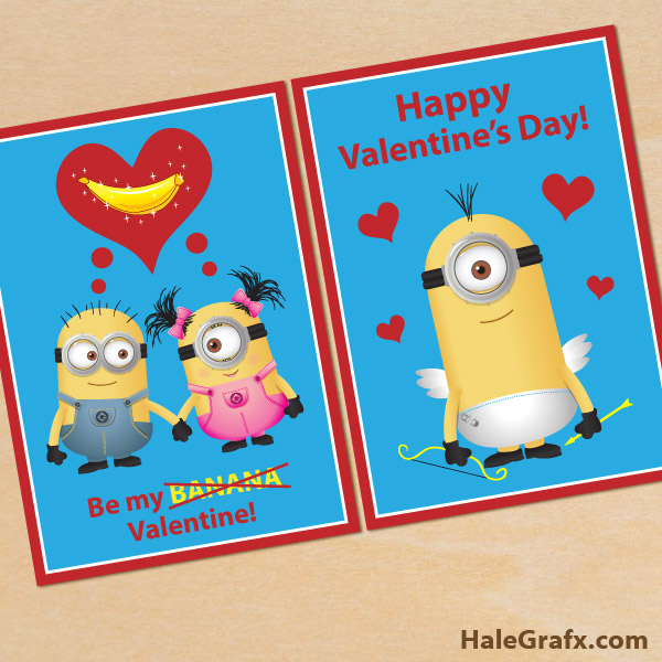 FREE Printable Despicable Me Minion Valentines