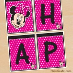 FREE Printable Minnie Mouse Birthday Banner