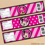 FREE Printable Minnie Mouse Water Bottle Labels