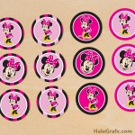 FREE Printable Minnie Mouse Cupcake Toppers