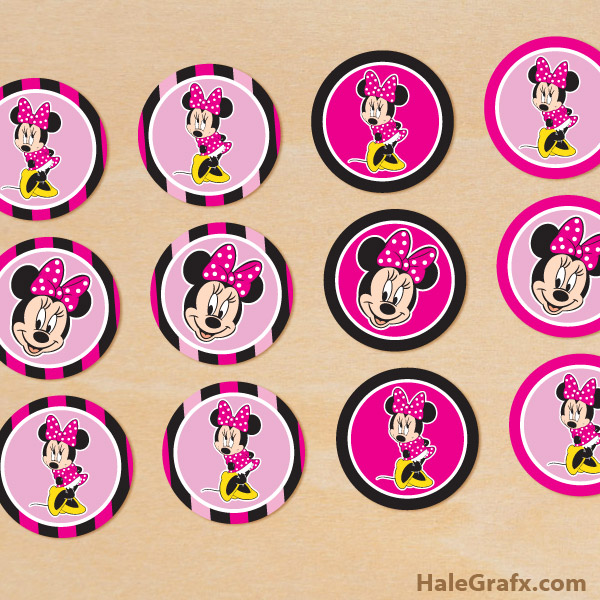 Free Printable Images Of Cupcakes : FREE Printable Minnie Mouse Cupcake Toppers