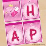FREE Printable Princess Peppa Pig Birthday Banner