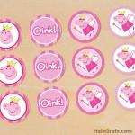 FREE Printable Peppa Pig Cupcake Toppers