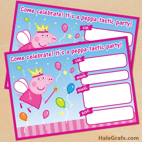 Inventive image throughout peppa pig printable invitations
