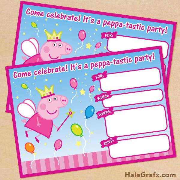 Printable princess fairy peppa pig birthday invitation free printable princess fairy peppa pig birthday invitation stopboris Image collections