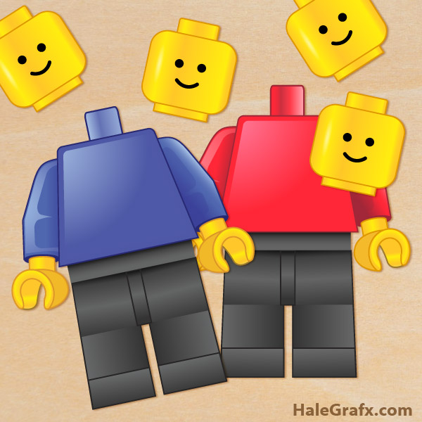 Soft image inside lego man printable