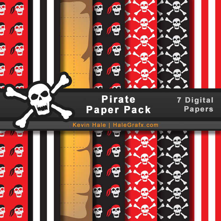 FREE Pirate Digital Paper Pack