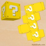 FREE Printable Super Mario Bros. Question Block Treat Box