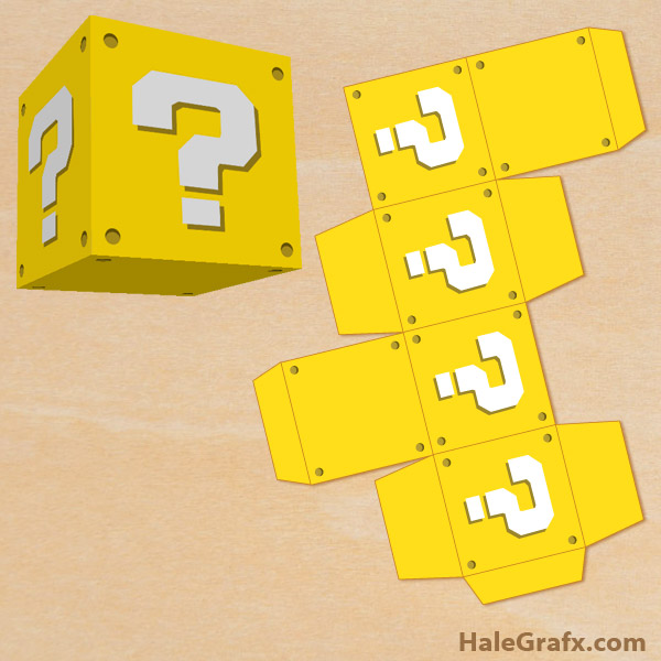 FREE Printable Super Mario Bros Question Block Treat Box