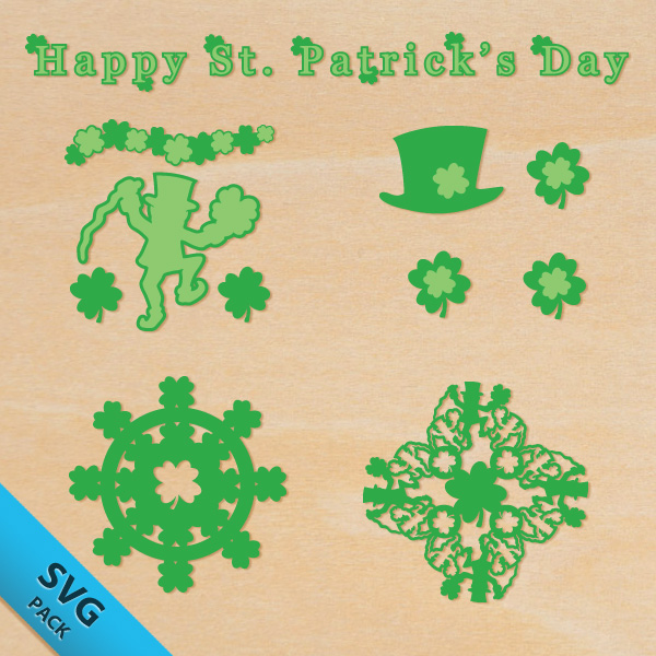 FREE St. Patrick's Day Shamrock and Leprechaun SVG Pack