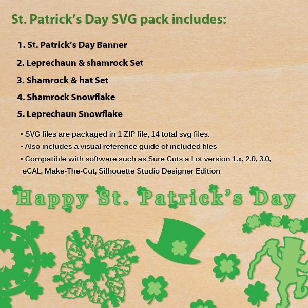 FREE St. Patrick's Day Shamrock and Leprechaun SVG Pack