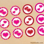 FREE Printable Valentine's Day Heart Cupcake Toppers