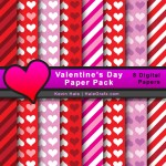 FREE Valentine's Day Digital Paper Pack