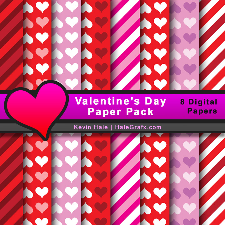 free valentine's day digital paper pack, Ideas